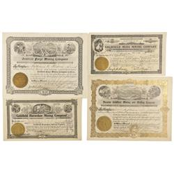 NV - Goldfield,Esmeralda County - 1906, 1907, 1908 - Goldfield Mining Stock Certificates - Fenske Co