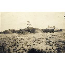 NV - Goldfield,Esmeralda County - 1904 - January Mine and Ore Wagons Photograph