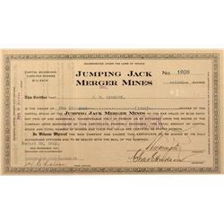 NV - Goldfield,1912 - Jumping Jack Merger Mines Stock - Fenske Collection