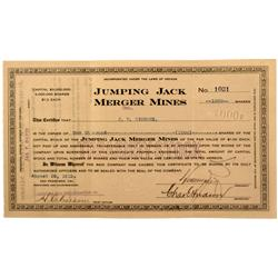 NV - Goldfield,1912 - Jumping Jack Merger Mines Stock