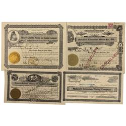 NV - Goldfield,c1925 - Mohawk Mining Certificates - Gil Schmidtmann Collection