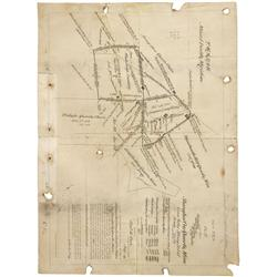 NV - Grass Valley,Nevada County - 1889 - Shanghai Con. Quartz Mine, Map