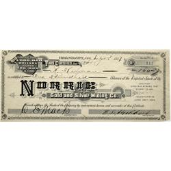 NV - Guanajuato,Guanajuato - 1887 - Norrie Gold and Silver Mining Co. Stock Certificate