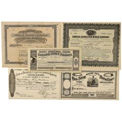 NV - Hamilton,White Pine County - 1874-1925 - Miscellaneous Stock Certificate Group - Clint Maish Co