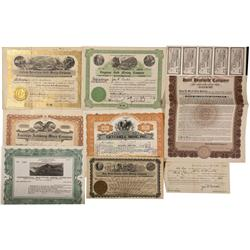 NV - Humboldt County,1908, 1909, 1914, 1917, 1925,1950 - Humboldt County Area Mining Stock Certifica