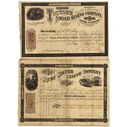 NV - Humboldt County,1865 - Pine Wood Mining District Stock Certificates - Clint Maish Collection