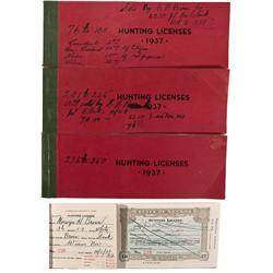 NV - Humbolt County,1937 - Hunting License Receipt Booklets