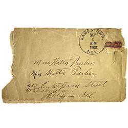 NV - Jamestown,Nye County - 1908 - Jamestown Postal Cover