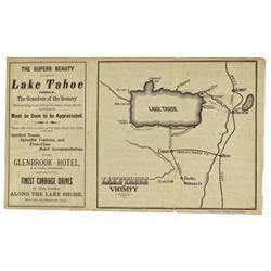 NV - Lake Tahoe,Douglas County - Lake Tahoe Brochure Map - Gil Schmidtmann Collection