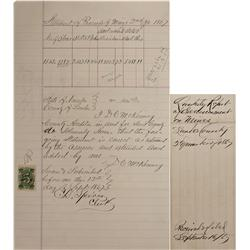 NV - Lander County,1867 - Proceeds of Mines Quarterly Assessment - Clint Maish Collection