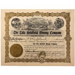 NV - Lida,Nye County - 1906 - Lida Goldfield Mining Company Stock - Fenske Collection