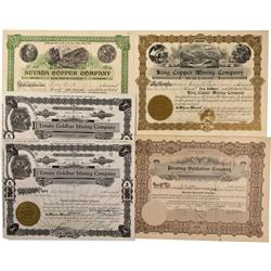 NV - Lovelock,Pershing County - Lovelock Stock Certificate Group