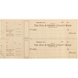 NV - Manhattan,Nye County - Nye and Ormsby County Bank Checks - Gil Schmidtmann Collection