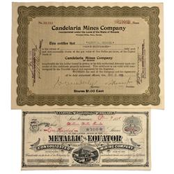 NV - Mineral County,1881, 1923 - Nevada Mining Stock Certificates - Fenske Collection