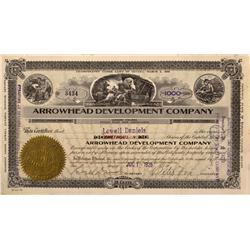 NV - Nye County,1929 - Arrowhead Development Company Stock Certificate