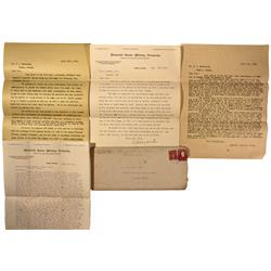 NV - Nye County,1908 - Diamond Queen Mining Company Correspondence - Clint Maish Collection