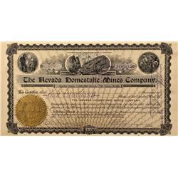 NV - Nye County,1906 - Nevada Homestake Mines Company Stock - Fenske Collection