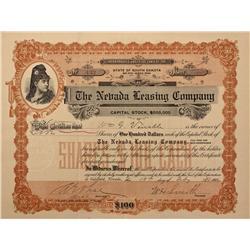 NV - Nye County,1906 - Nevada Leasing Company Stock - Fenske Collection