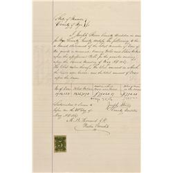 NV - Nye County,May 31, 1867 - Nevada Revenue Stamped Document