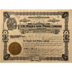 NV - Nye County,1908 - Niagra Gold Mining Company Stock - Fenske Collection
