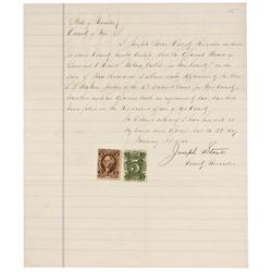 NV - Nye County,January 22, 1866 - Nye County Letter with Nevada Revenue Stamps - Gil Schmidtmann Co