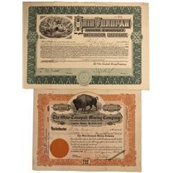 NV - Nye County,1906,1907 - Ohio-Tonopah Mining Company Stock Certificate - Fenske Collection