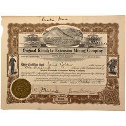 NV - Nye County,1916 - Original Klondyke Extension Mining Company Stock - Fenske Collection