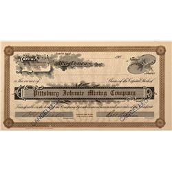 NV - Nye County,c1905 - Pittsburg Johnnie Mining Co. Stock Certificate - Fenske Collection