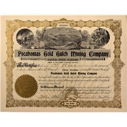 NV - Nye County,1908 - Pocahontas Gold Gulch Mining Company Stock - Gil Schmidtmann Collection