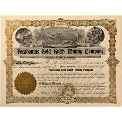 NV - Nye County,1908 - Pocahontas Gold Gulch Mining Company Stock