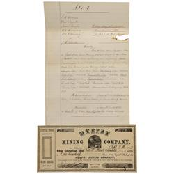 NV - Nye County,1866 & 1872 - South Twin River Mining District Documents - Clint Maish Collection