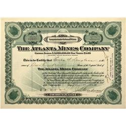 NV - Nye County,1912 - The Atlanta Mines Company Stock - Fenske Collection