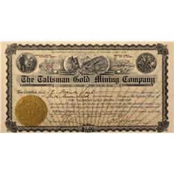 NV - Nye County,1908 - The Talisman Gold Mining Company Stock - Fenske Collection