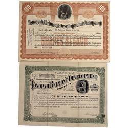 NV - Nye County,1904, 1928 - Tonopah Belmont Development Co. Stock Certificate - Fenske Collection