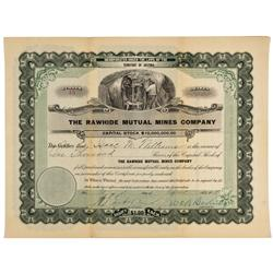 NV - Rawhide,Mineral County - april 15, 1908 - Rawhide Mutual Mines Company Stock - Gil Schmidtmann