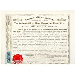 NV - Reese River,Lander County - 1867 - Mettacom Silver Mining Co. of Reese River Bond Certificate
