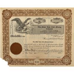 NV - Reno,Washoe County - Silver Lake Gold Mining Company Stock Certificate