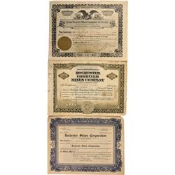 NV - Rochester,Pershing County - Rochester Stock Certificate Group