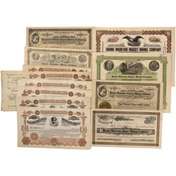 NV - Round Moutnain,Nye County - Round Mountain Stock Certificate Group