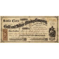 NV - San Antone Station,Esmeralda County - March 12, 1864 - San Antonio Mining District Stock Certif