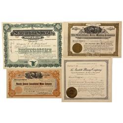 NV - Searchlight,Clark County - 1903, 1905, 1909 - Searchlight Area Mining Stocks
