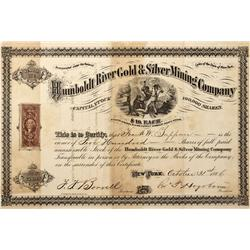 NV - Sierra Mining District,Humboldt - 1866 - Humboldt River Gold and Silver Mining Co.