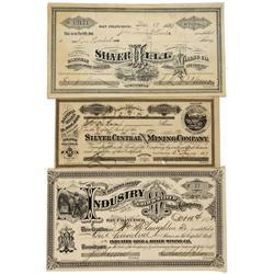 NV - Silver City,Lyon County - 1877-1891 - Silver City Mines, Stock Group - Gil Schmidtmann Collecti
