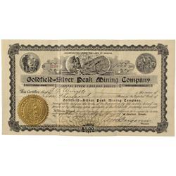 NV - Silver Peak,1907 - Goldfield Silver Peak Mining Company Stock Certificate