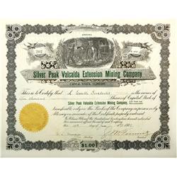 NV - Silver Peak,Esmeralda County - 1908 - Silver Peak Valcalda Extension Mining Co. Stock Certifica