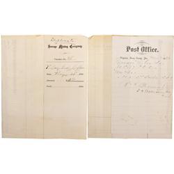 NV - Storey County,1880 - Virginia City Postal History