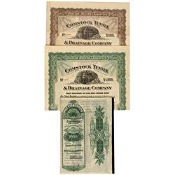 NV - Sutro,Lyon County - 1889-1919 - Comstock Tunnel Cancelled Bonds Group - Gil Schmidtmann Collect