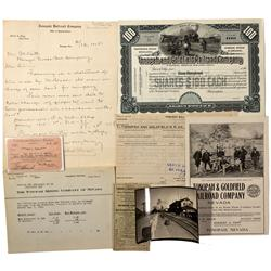 NV - Tonopah,Tonopah and Goldfield Railroad Ephemera