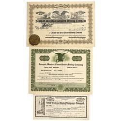 NV - Tonopah,Nye County - 1905-1926 - Tonopah Stock Certificate Group - Clint Maish Collection