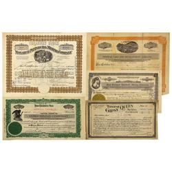 NV - Tonopah,Nye County - 1912-1927 - Tonopah Stock Certificate Group - Clint Maish Collection